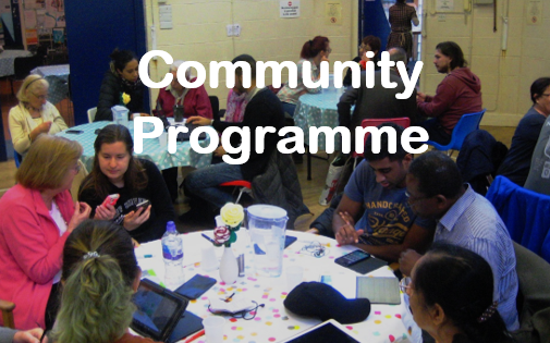 Community Programme button
